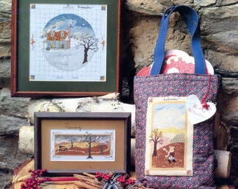 Country Seasons by Debbie Kingston (cross stitch)   June Grigg designs Books 18 & 19   Craft Book