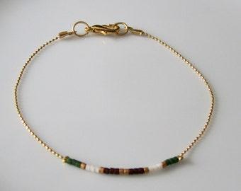 Miyuki Delicate Bracelet, Minimalist Beaded Bracelet, Friendship bracelet