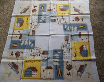 Childs Tablecloth, Farm Scenery Tablecloth