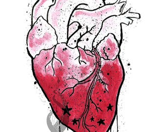 Drained Heart Sticker