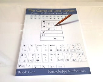 Lost Letters Word Game Book - Fathers Day Gift for the word game lover in your family
