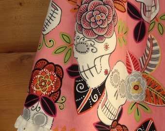 Cha Cha Cha Day of the Dead Pink Cotton Dress 4T