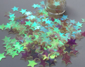 Iridescent Clear Sequin Stars