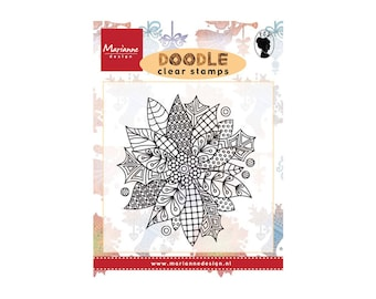 Stamp clear, Marianne Design, DOODLE, flower, Scrapbooking, Cardmaking, crafting, coloring theme