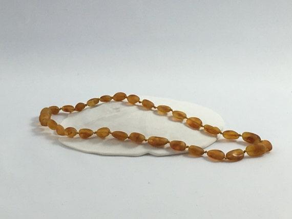 Polished Raw Honey AMBER TEETHING NECKLACE// Baby Teething Necklace// Teething Tools// Baby Jewelry/ Amber Jewelry// Authentic Amber Jewelry