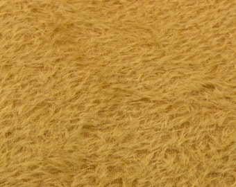 """10% OFF:  German Mohair Fabric Gold Straight 8mm Pile Size 23x28"""" 50001065"""