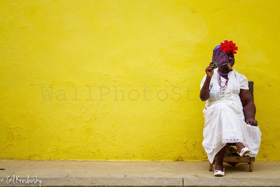 Cuba Photography Cuban Lady with Cigar Havana Photography