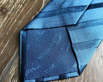 Vintage Christian Dior Tie - Shades of Blue - Classic Christian Dior Tie - Designer Tie