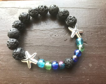 Mermaid Lava Stone Bracelet