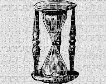 Antique Hourglass Vintage Illustrations Digital Image High Resolution 300 dpi Printable Graphic Instant Download Commercial Use 0521
