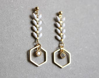 Large fish dangle earrings like on sex in the city
