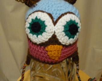 Owl Hat Size 9 to 12 months