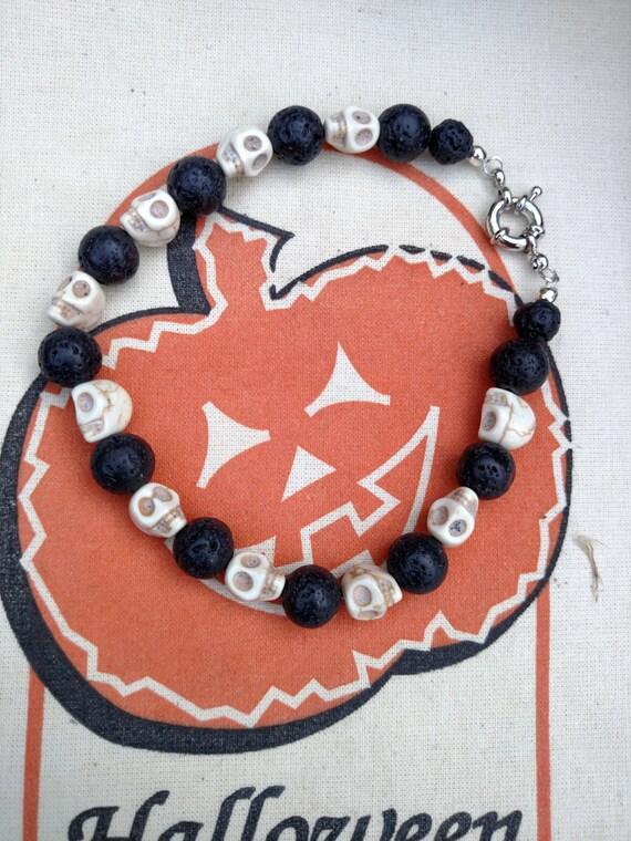 Made to Order Skull Bracelet, Custom made Day of the Dead Skull bracelet