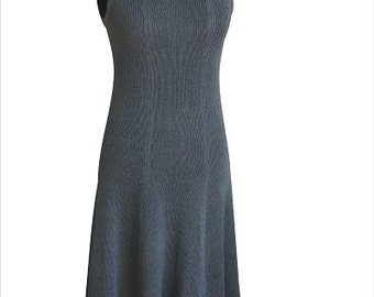 Natural 100% Linen knitted dress, handmade, high-quality, summer, many colors, Size (XS,S,M,L,XL)