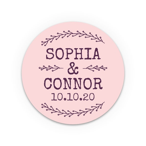 Custom party favor stickers wedding, Guest wedding favors labels, Labels for jars for wedding favors, Party favours, Personalised stickers