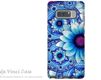 Blue Floral Galaxy Note 8 Case - Mexican Floral Case for Samsung Galaxy Note 8 with Art - Talavera Alejandra - Premium Dual Layer Case