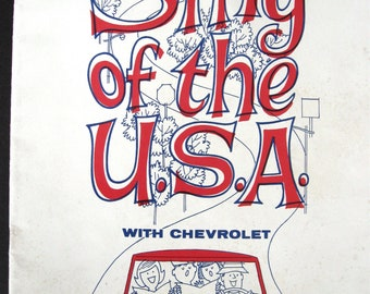 Sing of the U. S. A. with Chevrolet Songbook