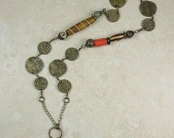 Antiqued Gold Trinket Necklace