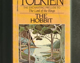 """The Hobbit by J. R. R. Tolkien. Ballantine 1986 Edition In """"As-Is"""" Vintage Condition* BARGAIN BOOK. Middle Earth."""
