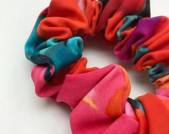 Scrunchies for hair, orange multi, scrunchies, elastic