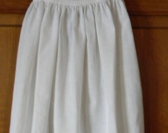 Cotton slip for a Christening Gown
