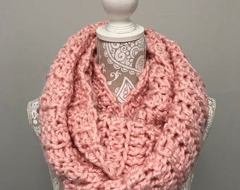 Pink Chunky Infinity Scarf
