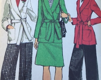 Vintage Simplicity 5197 Front Wrap Jacket Skirt and Pant