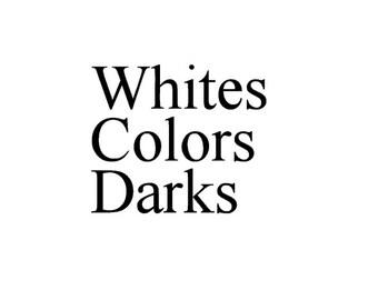 Laundry sorters - Whites.Colors.Darks. - Vinyl Wall Art
