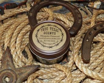 Mesquite Firewood - 4 oz mason jar western Texas candle
