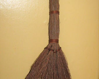 """Twig Witch's Broom * Brown Natural 16"""" Broom for Halloween or Fall Decor * Add to Wreath or Decorate * Fall Craft Broom"""