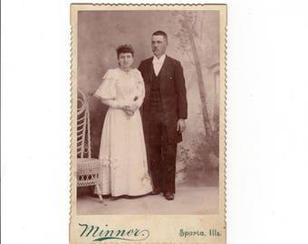 Couple, antique cabinet card photo