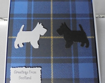 Scottish card. Christmas card. New Year Card. Greetings from Scotland.