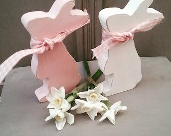 Handpainted Stargazing Bunny, Easter Ornament, Easter Decoration, Nursery Decoration, Easter Gift, Bunny Lover Gift, Rabbit Ornament