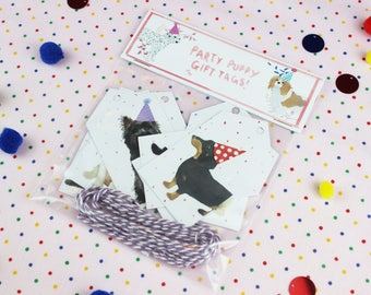 Gift Tags / Dog Gift Tags / Pug decor / Birthday gift tags / Gift Tag / Favor Tags / Holiday gift tags / Gift wrap / Tags / Pug Gift tags.