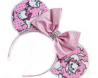 Marie Inspired Mouse Ears | Aristocats Inspired Mouse Ears | Cat Mouse Ears | Mouse Ears Headband | Mouse Ears