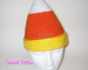 Crochet Pattern: Candycorn Beanie
