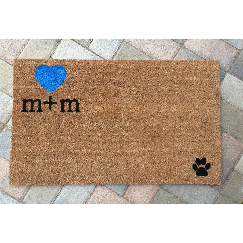 il initials customized custom doormat mats personalized mat with zoom listing fullxfull welcome and