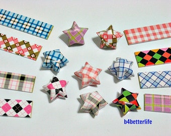 250 strips of DIY Origami Lucky Stars Paper Folding Kit. 26cm x 1.2cm. #C124. (XT Paper Series).