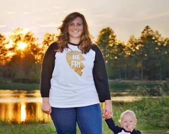 Best Friends Raglan Shirts, Mommy and Me Shirts, Twins Shirts, Sisters Shirts, Sibling Shirts, Hipster Shirt, Gold Glitter Shirts, Heart 801