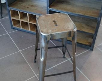 Antique industrial stool