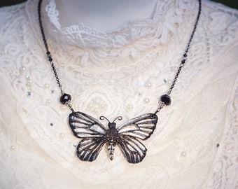 Butterfly Necklace Silver 7, 3cm