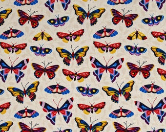 ORGANIC COTTON Butterfly Bloom - Multi by Cloud9/Organic Cotton/Fabric/Quilting/Sewing