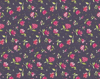 Chelsea Market Dorset Berry Plum - Blend Fabrics by Brenda Walton premium cotton limited edition by the yard by the fat quarter floral