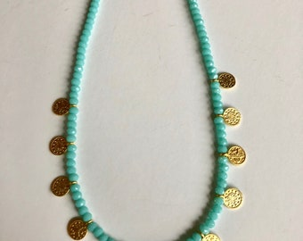 Coin petite layer necklace