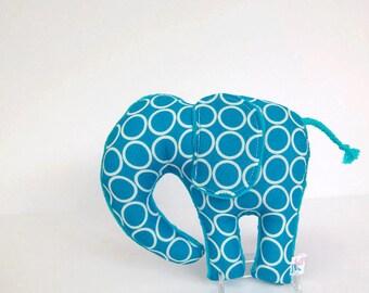 Elephant Plush Toy Nursery Decor Stuffed Animal Turquoise Blue Ready to Ship