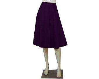 Taffeta Skirt Deep Purple Skirt Bridesmaids Skirt Prom Skirt Formal Skirt in Tea Length XS S M L XL