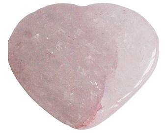 Rose Quartz Heart Crystal Stone (Beautifully Gift Wrapped)