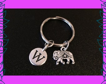 Elephant keychain, holiday charm key ring, holiday gift, elephant gift, UK