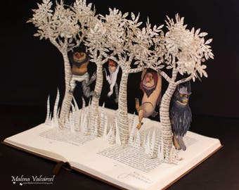 Where The Wild Things Are - Book Arts - MADE TO ORDER
