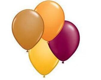 "11"" Fall latex balloons. autumn balloon. woodland balloons. latex balloons. owl party. fall supplies. fall leaf balloons. fall balloons"